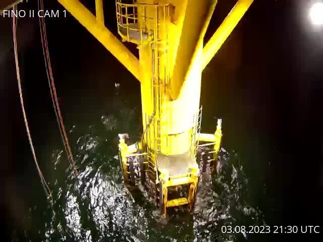 FINO2: Webcam mit Blick auf den Fuß der Forschungsplattform