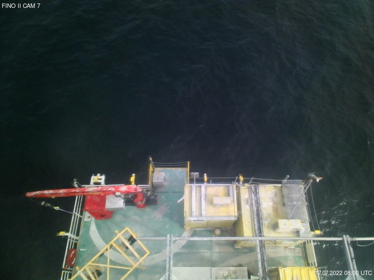 FINO2: Webcam mit Blick nach unten
